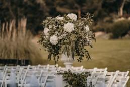 estatua flores boda